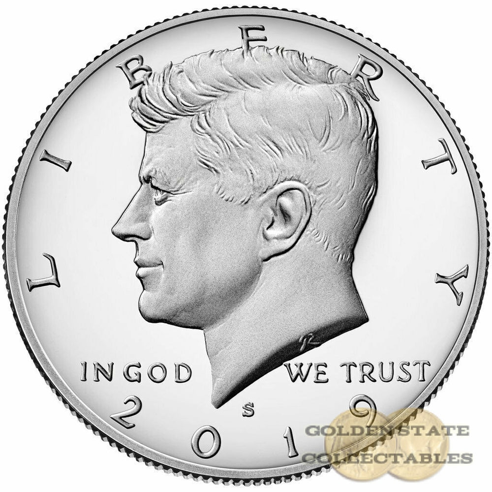2019 S Kennedy SILVER Half Dollar, Perfect Gem Proof .999 SILVER