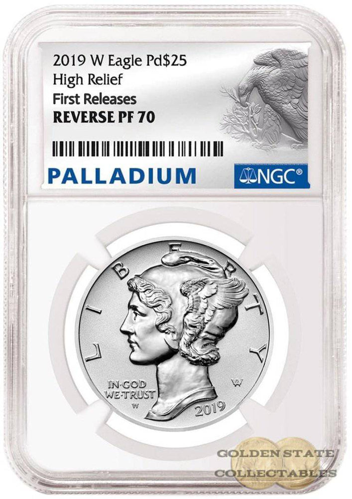 2019 W $25 Palladium Rev. Proof NGC Reverse PF 70 First Releases