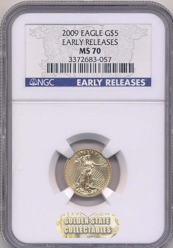2009 $5 Gold Eagle NGC MS70 Early Releases
