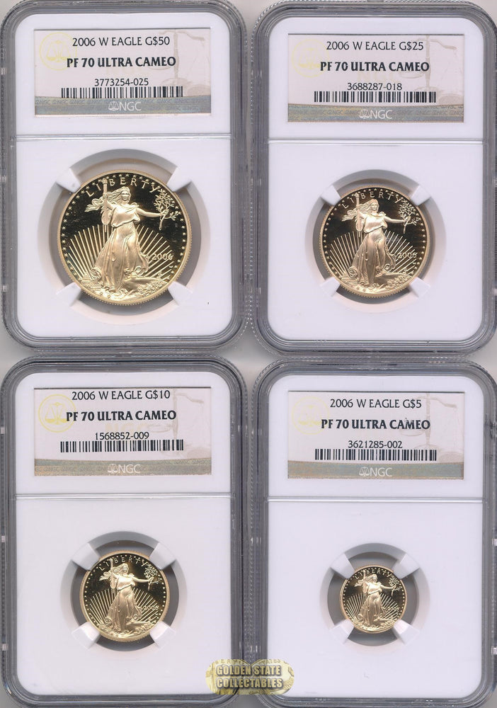 2006 W $50/$25/$10/$5 Gold Eagle Mint Set NGC PF70 UCAM (4 Coin Set)