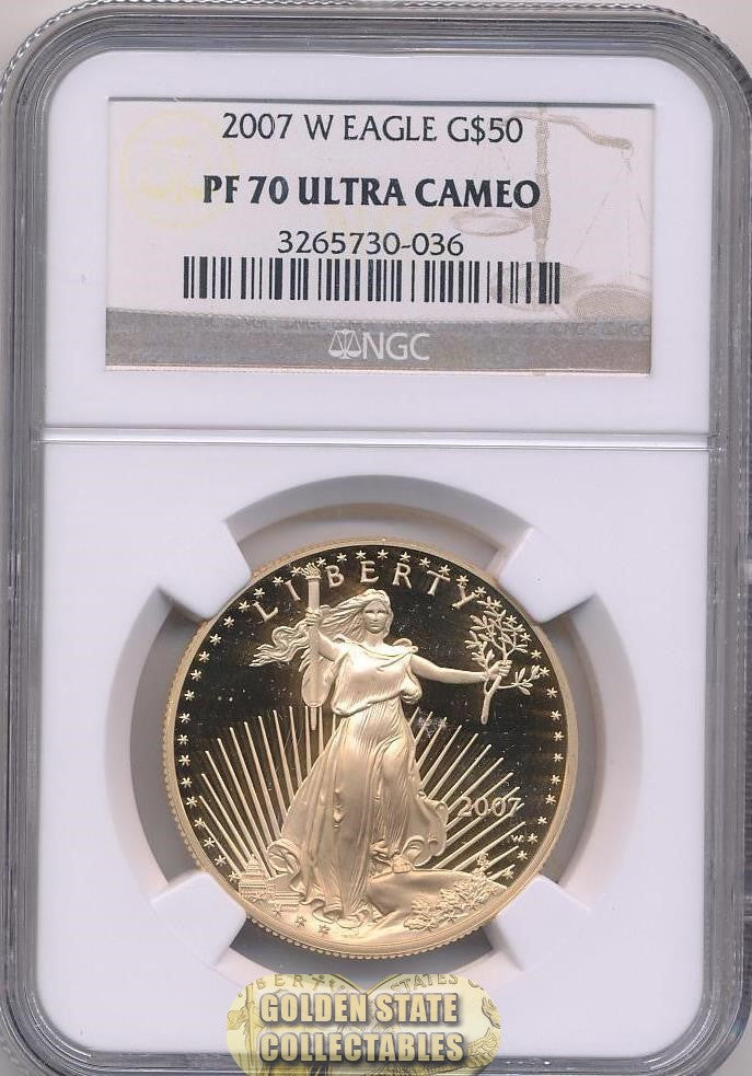 2007 W $50 Gold Eagle NGC PF70 Ultra Cameo