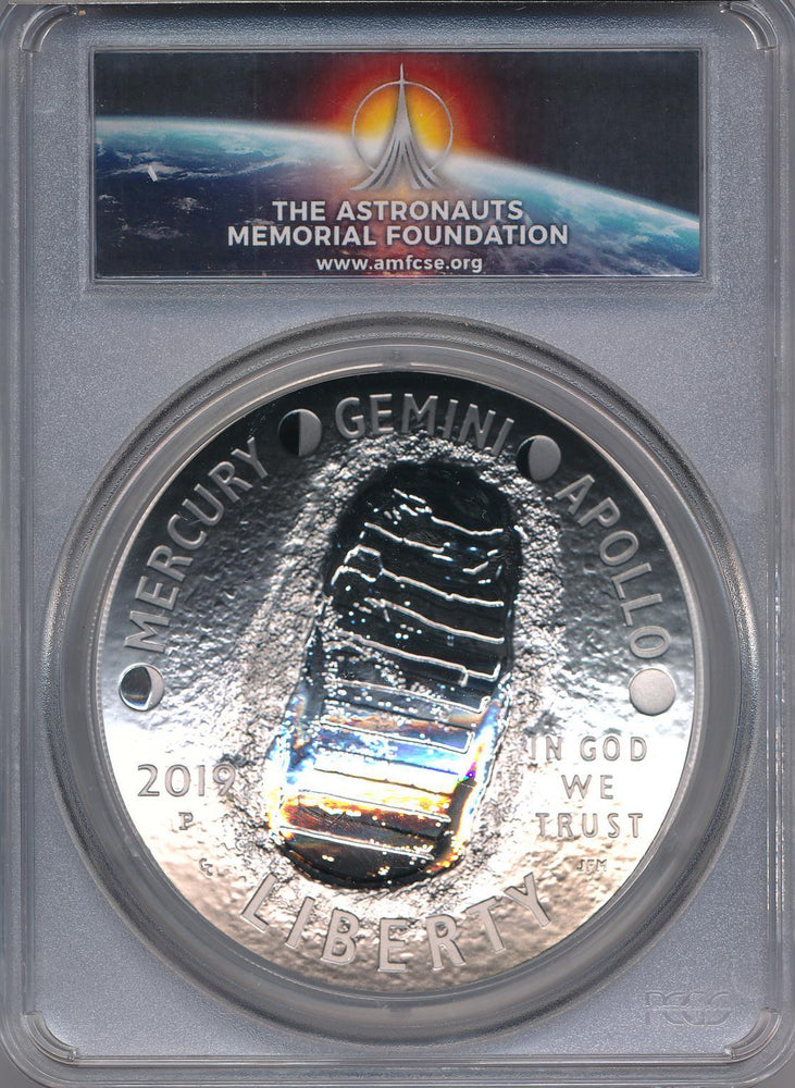 2019 P Apollo 11 50th Anniversary Proof 5 oz Silver Coin PCGS PR70 First Strike AMF