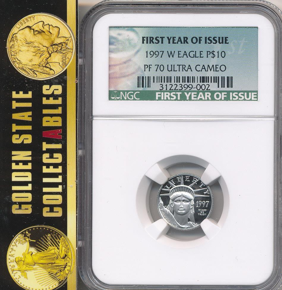 1997 W $10 Proof Platinum Eagle PF70 Ultra Cameo First Year of Issue
