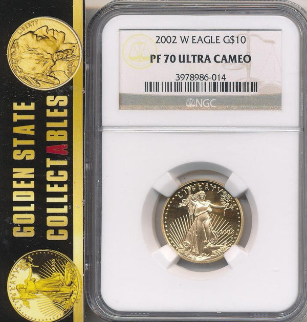 2002 W $10 Proof Gold Eagle NGC PF70 Ultra Cameo