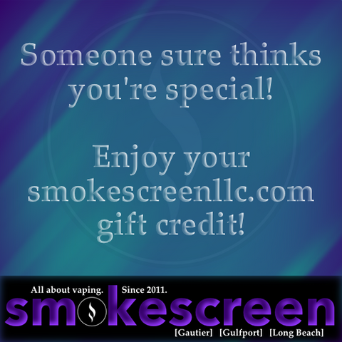 smokescreenllc.com Gift Card
