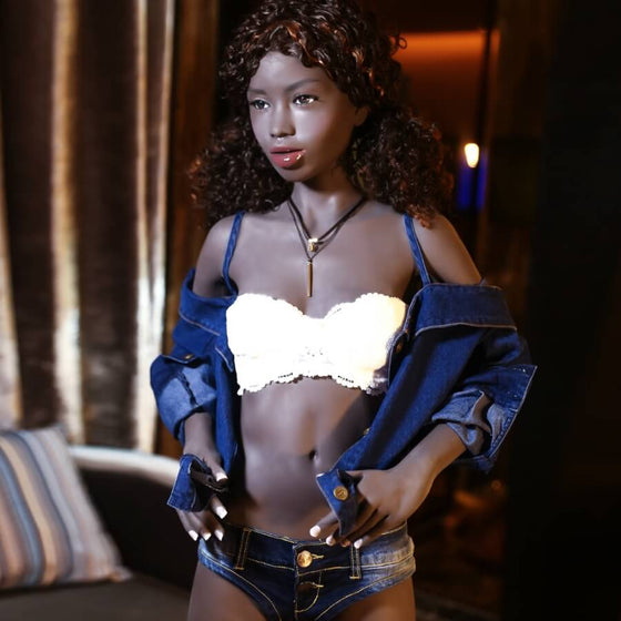 Nevaeh: Curly Black Small Breast Teen Fuck Doll - Dollzzz.com