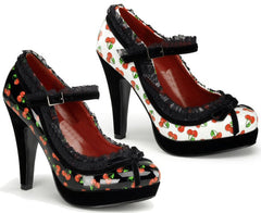 Maryjane cherry heels