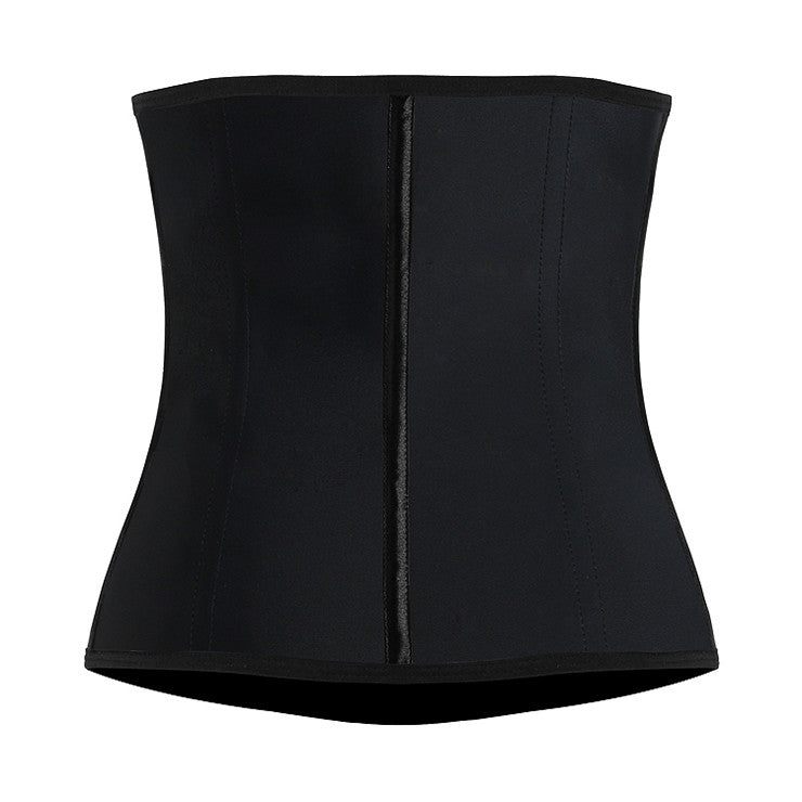 Sexy Black Steel Boned Sport Latex Waist Traning Corset Excercise
