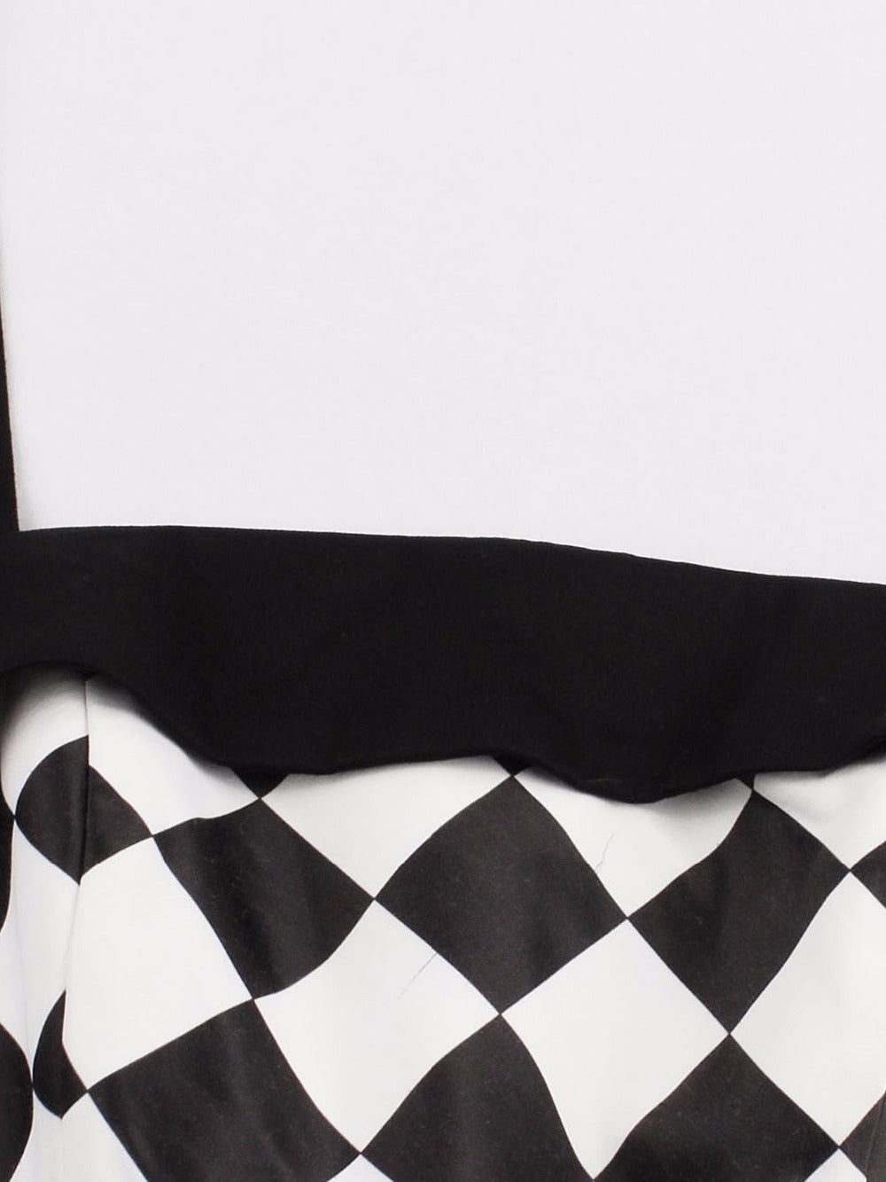 """Fatale"" Black and White Retro Pinup Dress"