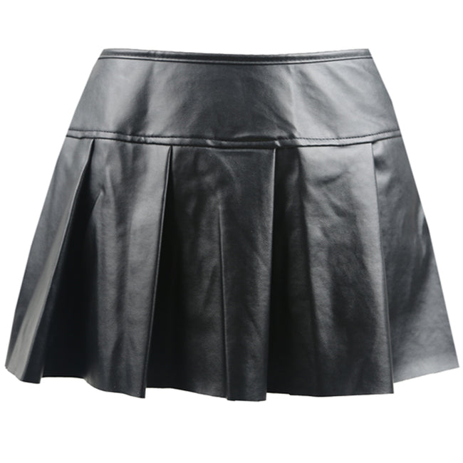 Vegan Faux Leather Skirt