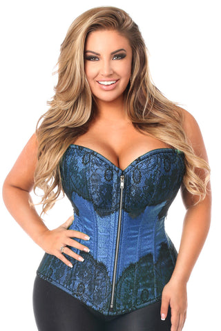 Top Drawer Elegant Purple Embroidered Steel Boned Corset