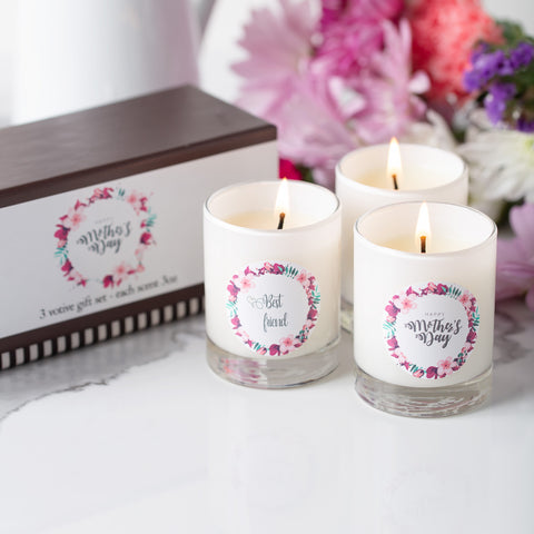 MOTHER'S DAY VOTIVES SET