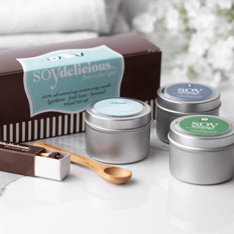 TRAVEL TIN SAMPLER {FRESH LINEN, GARDENIA & HAVANA}