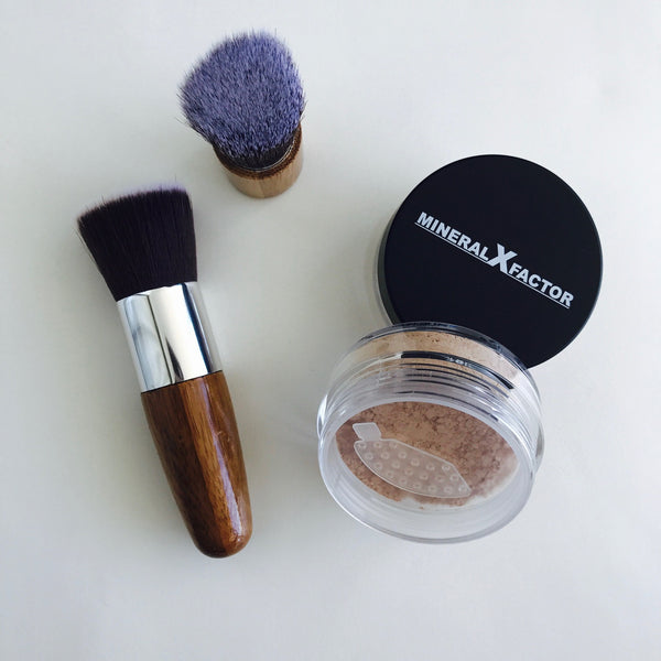 Bamboo Vegan Flat top Kabuki Brush long handle