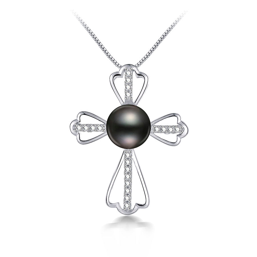 Fashion Women/'s Jewelry Cross Freshwater Pearl Pendant Necklaces