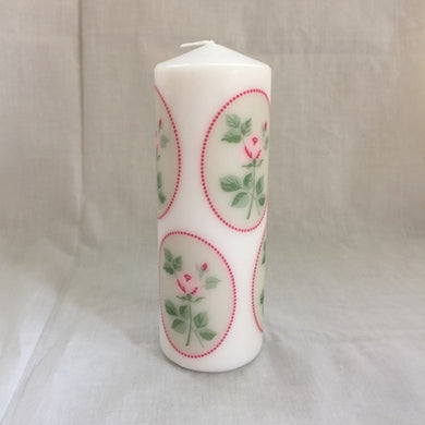 Pillar Candle - 'Pink Rose' - 45 hour burn - Hollie Cora