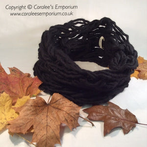 ARM KNITTED Unisex Cowls - SNUGGLY Size - Various Colours -Wool/Acrylic