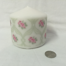 Load image into Gallery viewer, Pillar Candle - 'Lace Rose' - 15 hour burn - Hollie Cora