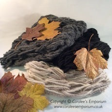 ARM KNITTED Unisex Cowls - SNUGGLY Size - Various Colours - Acrylic Only