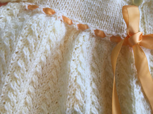 Showing detail of knitted stitches