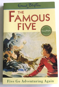 The Famous Five - Book 2  - Five Go Adventuring Again - Enid Blyton - USED