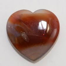 Load image into Gallery viewer, Polished Crystal Heart - Red Carnelian - Flat - Medium