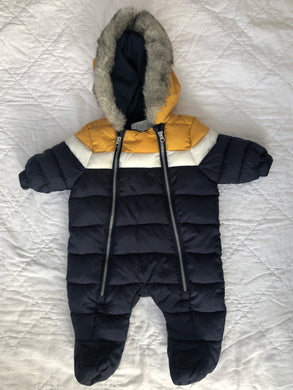 Baby Snowsuit Hooded, Unisex, New Born,  F&F