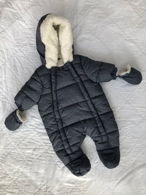 Baby Snowsuit Hooded, Unisex, Newborn, F&F