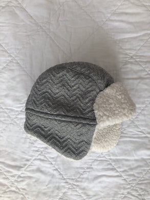 Baby Hat, Grey & White - George