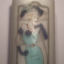 Load image into Gallery viewer, Pillar Candle - 'Elegant Lady' - 90 hour burn - Hollie Cora