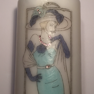 Pillar Candle - 'Elegant Lady' - 90 hour burn - Hollie Cora