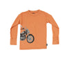Charlie Rocket Long Sleeved Motorcycle T-Shirt