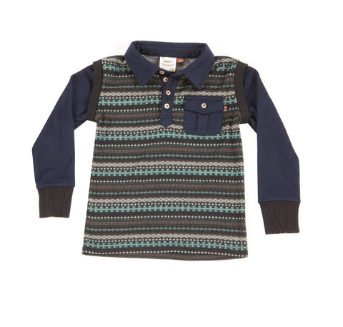 Fore!! Axel and Hudson Nordic Print Polo