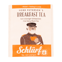 Laden Sie das Bild in den Galerie-Viewer, Schlürf Herr Petersen's Breakfast Tea - 20 Büdel