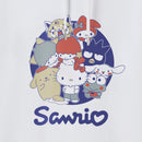 Sanrio Group Japanese Logo Premium Organic Cotton White Hoodie