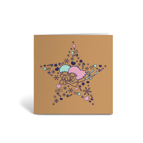 Little Twin Stars - Greeting Card - Individual - Gold