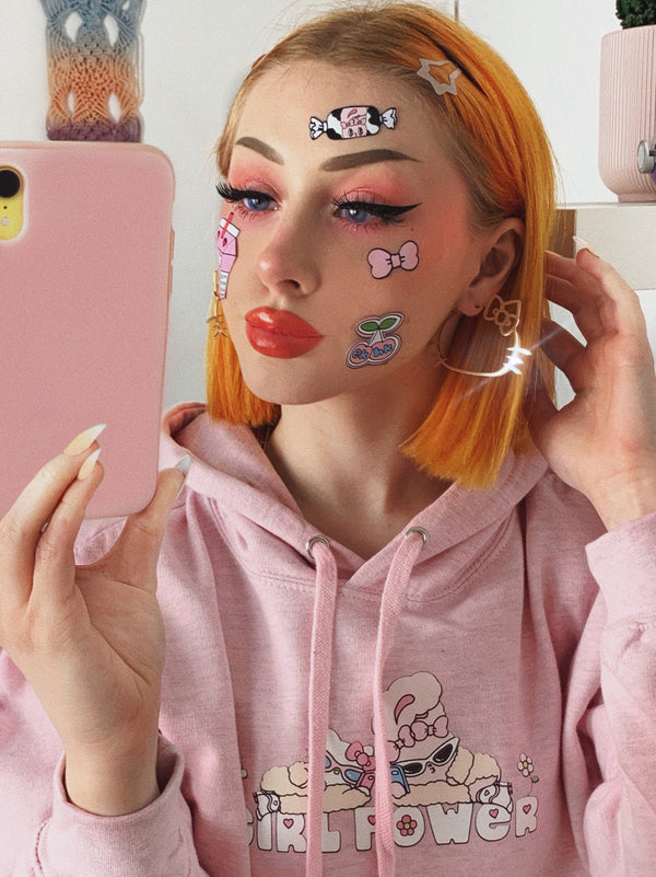 Hello Kitty x Esther Bunny Girl Power Pink Hoodie