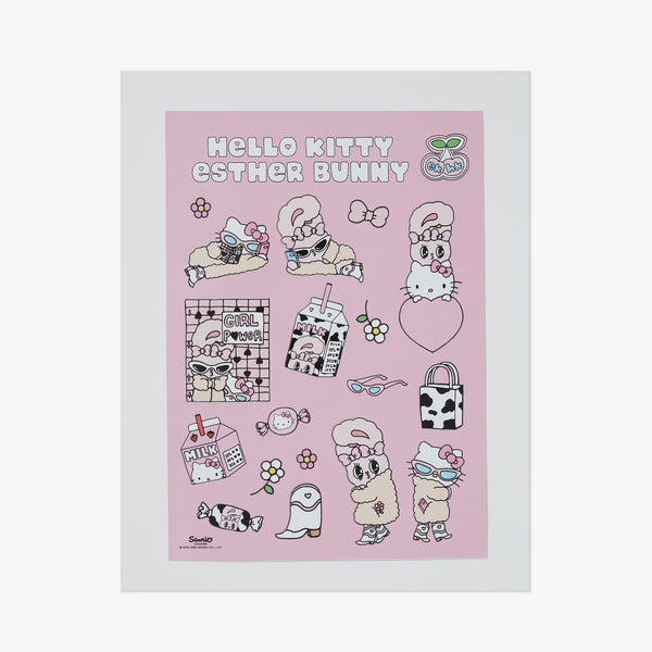 Hello Kitty x Esther Bunny Sticker Set