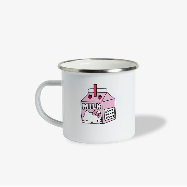 Hello Kitty x Esther Bunny Pink Milk Enamel Mug
