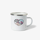 Hello Kitty x Esther Bunny Comic Strip Enamel Mug