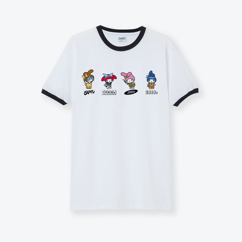 My Melody 45th Anniversary Fashion Ringer T-Shirt