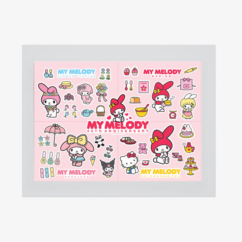 My Melody 45th Anniversary Sticker Sheet