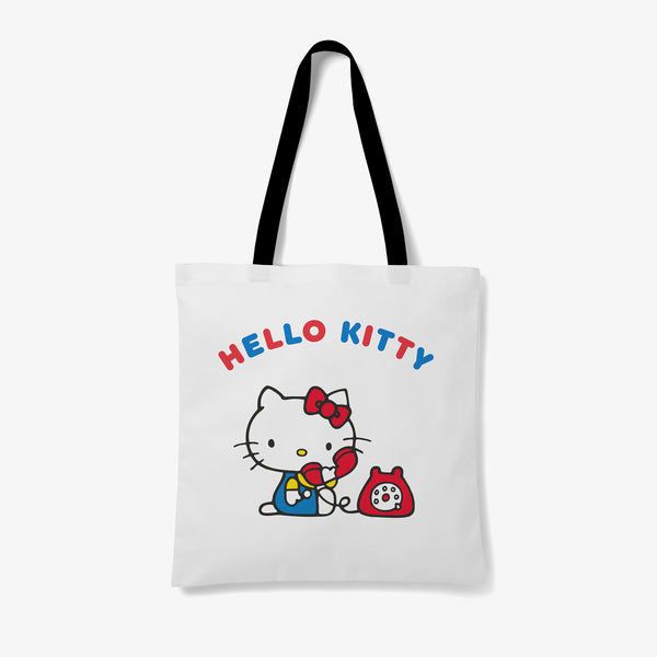 Hello Kitty Phone Personalised Tote Bag