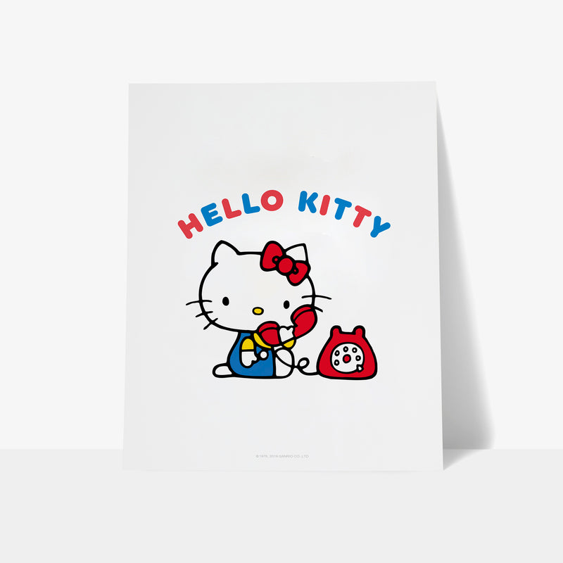 Hello Kitty Phone Personalised Art Print