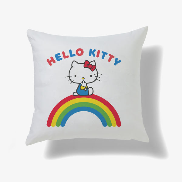 Hello Kitty Rainbow Personalised Cushion