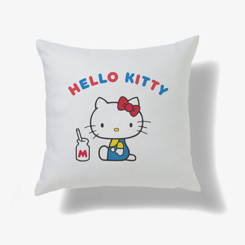 Hello Kitty Milk Bottle Personalised Cushion