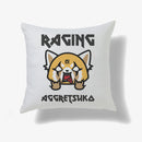 Aggretsuko Raging Personalised Cushion