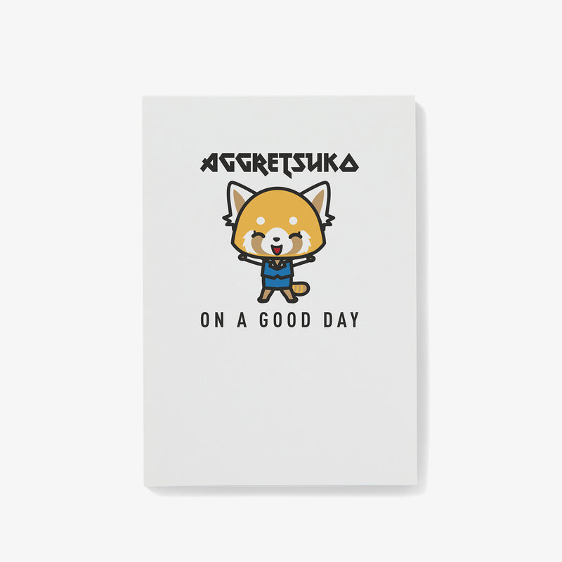 Aggretsuko On A Good Day Personalised Notepad