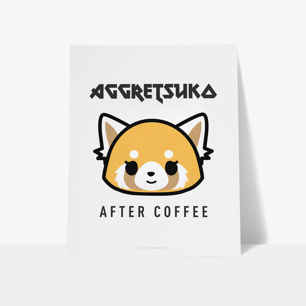 Aggretsuko After Coffee Personalised Art Print