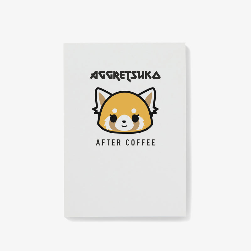 Aggretsuko Before & After Coffee Personalised Notepad